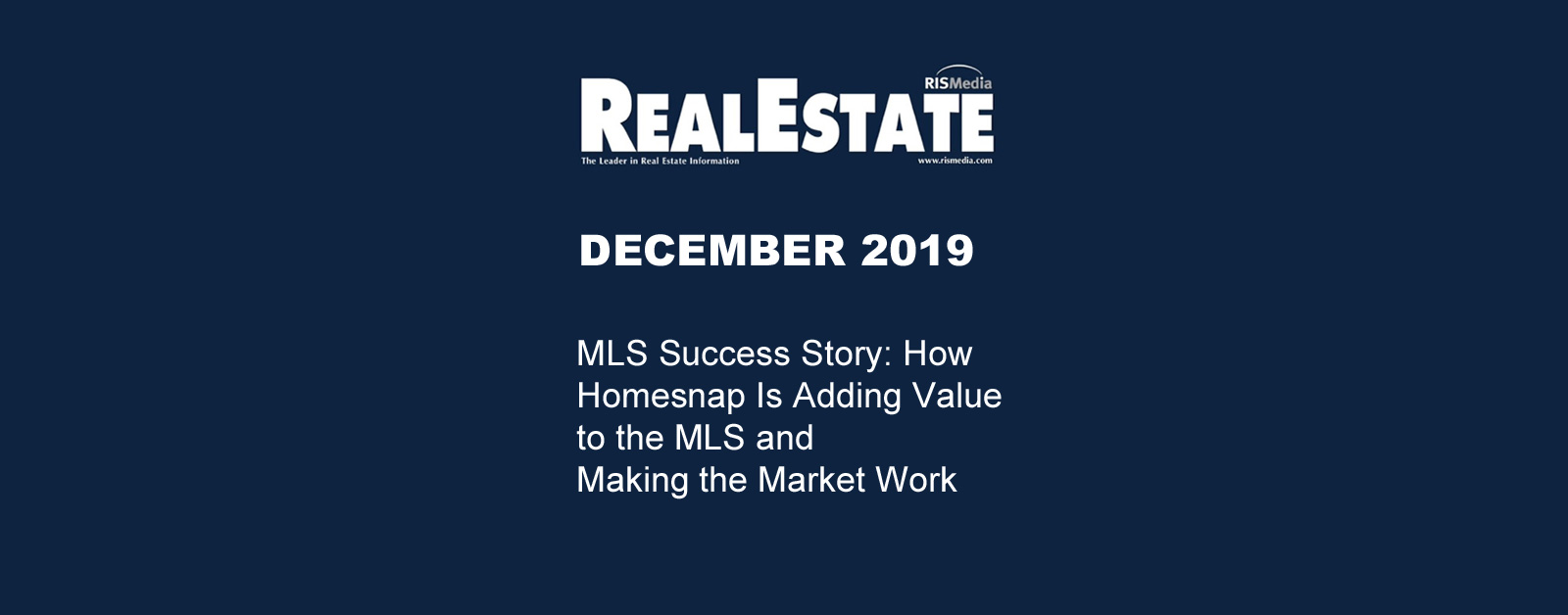Real Estate Magazine December