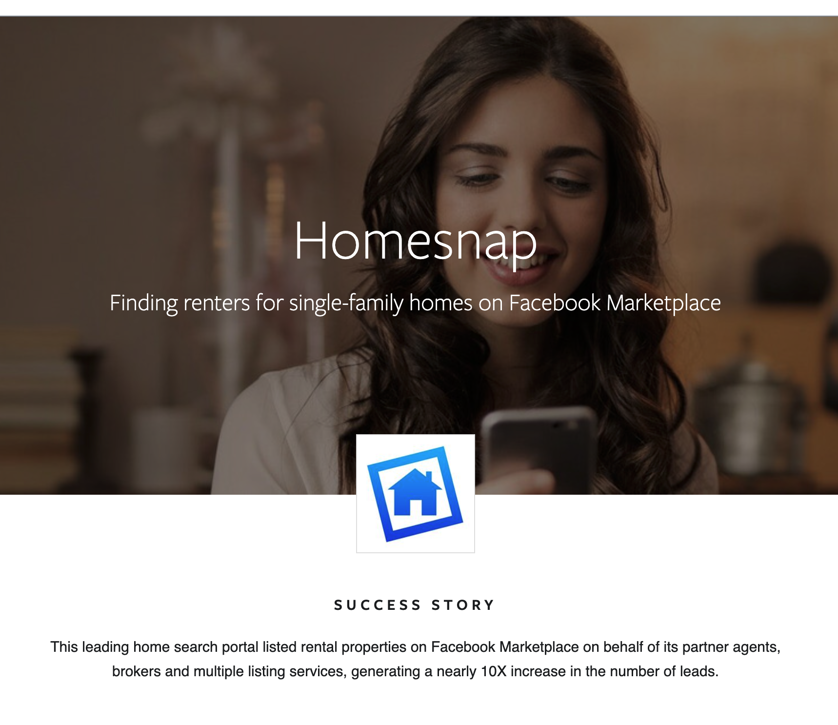 Facebook Homesnap Success Story